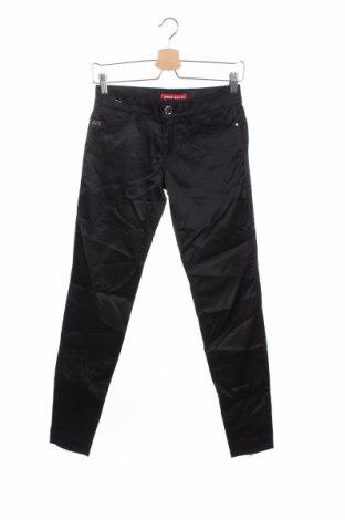 Дамски панталон Miss Sixty, Размер XS, Цвят Черен, 55% памук, 42% полиамид, 3% еластан, Цена 23,32лв.