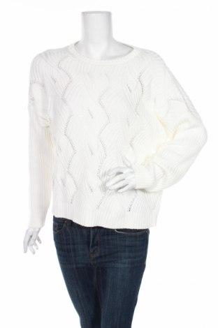 Дамски пуловер Tom Tailor, Размер L, Цвят Бял, 60% памук, 40% полиакрил, Цена 15,64лв.