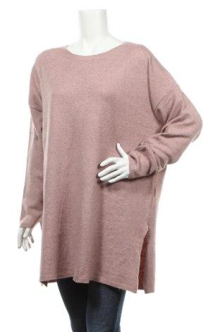 Dámský svetr Vero Moda, Rozměr L, Barva Růžová, 89% polyester, 8% vlna z alpaky, 3% elastan, Cena  979,00Kč