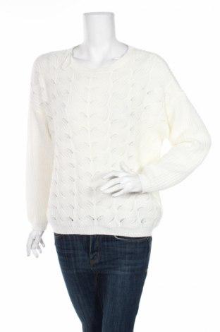 Дамски пуловер Vila, Размер M, Цвят Бял, 69% акрил, 31% памук, Цена 13,57лв.