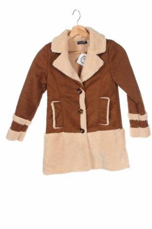 Детско палто La Petite Parisienne, Размер 11-12y/ 152-158 см, Цвят Кафяв, 100% полиестер, Цена 54,60лв.