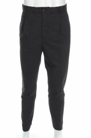 Мъжки панталон David Naman, Размер L, Цвят Черен, 64% полиестер, 34% вискоза, 2% еластан, Цена 23,70лв.