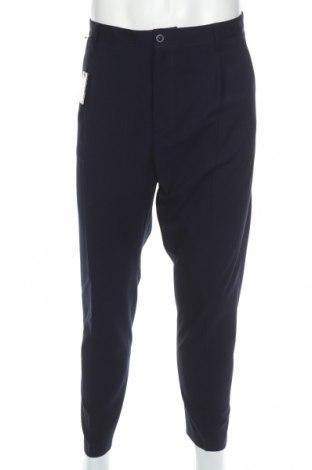 Мъжки панталон David Naman, Размер L, Цвят Син, 85% полиестер, 33% вискоза, 2% еластан, Цена 23,70лв.