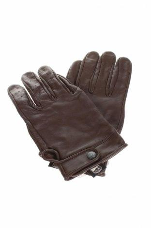 Ръкавици, Цвят Кафяв, Естествена кожа, Цена 31,20лв.