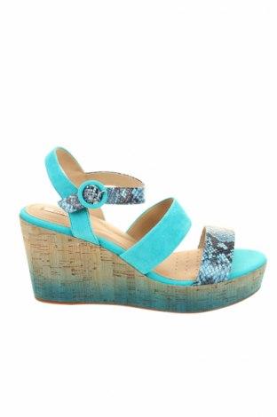 Sandály  Geox, Veľkosť 41, Farba Modrá, Prírodný velur , pravá koža , Cena  34,84€