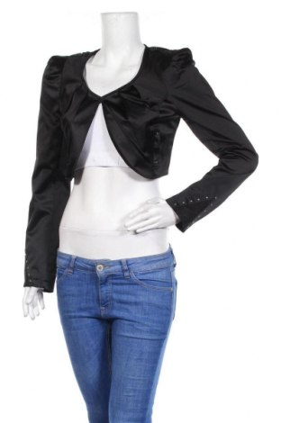 Болеро Tally Weijl, Размер M, Цвят Черен, 50% памук, 46% полиестер, 4% еластан, Цена 22,05лв.