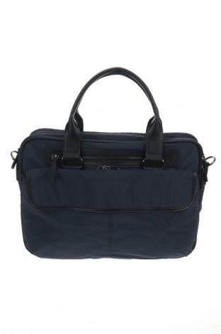 Чанта за лаптоп Reserved, Цвят Син, Текстил, еко кожа, Цена 34,22лв.