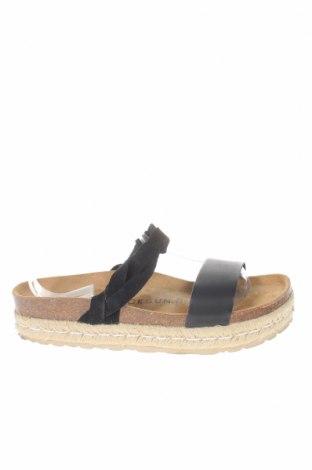 Pantofle Backsun, Velikost 39, Barva Černá, Eko kůže, Přírodní velur , Cena  516,00Kč