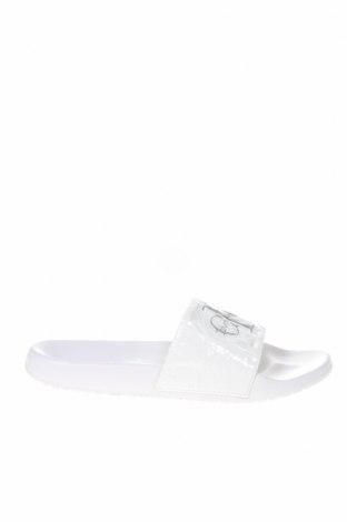 Γυναικείες παντόφλες Calvin Klein Jeans, Μέγεθος 40, Χρώμα Λευκό, Πολυουρεθάνης, Τιμή 29,60€