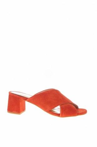 Γυναικείες παντόφλες Helene Rouge, Μέγεθος 39, Χρώμα Κόκκινο, Φυσικό σουέτ, Τιμή 24,12€
