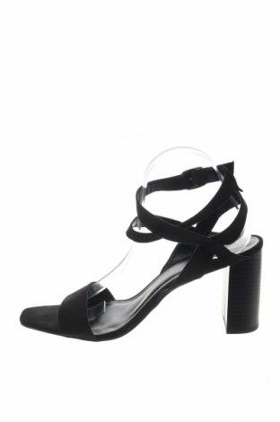Сандали New Look, Размер 41, Цвят Черен, Текстил, Цена 26,55лв.