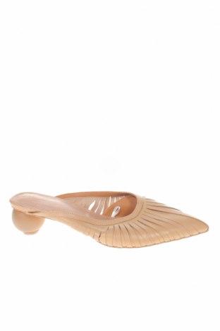 Γυναικείες παντόφλες Reserved, Μέγεθος 40, Χρώμα  Μπέζ, Γνήσιο δέρμα, Τιμή 18,85€