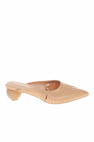 Γυναικείες παντόφλες Reserved, Μέγεθος 37, Χρώμα  Μπέζ, Γνήσιο δέρμα, Τιμή 18,85€