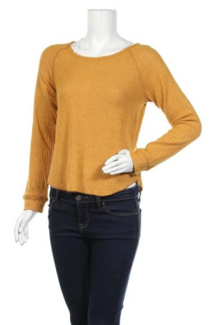 Дамска блуза Derek Heart, Размер M, Цвят Жълт, 70% полиестер, 28% вискоза, 2% еластан, Цена 8,82лв.