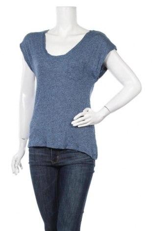 Дамска блуза H&M L.O.G.G., Размер M, Цвят Син, 46% вискоза, 31% лен, 5% полиестер, Цена 8,82лв.