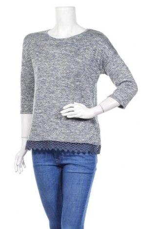 Дамска блуза Piazza Italia, Размер S, Цвят Син, 60% полиестер, 37% вискоза, 3% еластан, Цена 8,03лв.