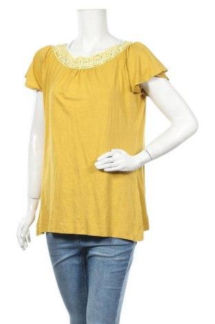 Дамска блуза Znk, Размер XL, Цвят Жълт, 95% вискоза, 5% еластан, Цена 13,39лв.