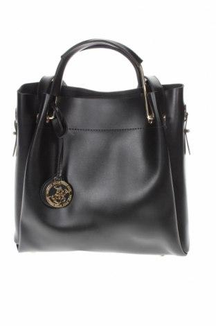 Дамска чанта Beverly Hills Polo Club, Цвят Черен, Еко кожа, Цена 54,00лв.