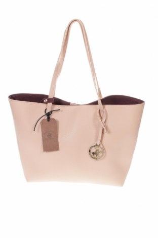 Дамска чанта Beverly Hills Polo Club, Цвят Розов, Еко кожа, Цена 59,25лв.