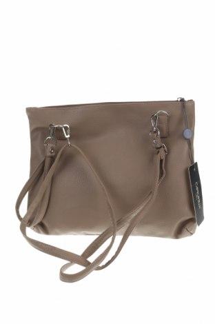 Γυναικεία τσάντα Camomilla, Χρώμα  Μπέζ, Δερματίνη, Τιμή 22,81€