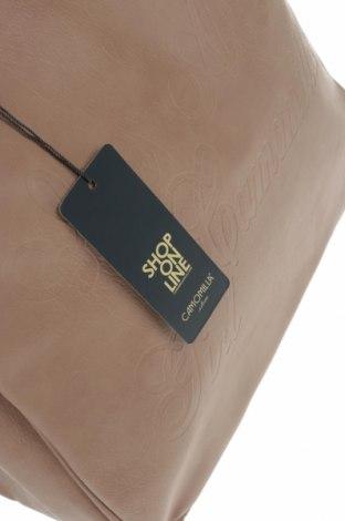 Дамска чанта Camomilla, Цвят Бежов, Еко кожа, Цена 37,92лв.