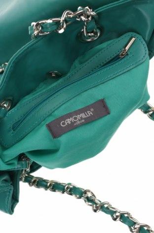 Дамска чанта Camomilla, Цвят Зелен, Еко кожа, Цена 29,76лв.