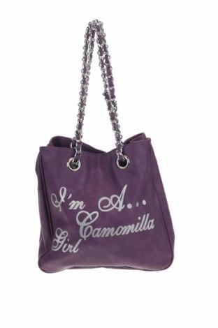 Дамска чанта Camomilla, Цвят Лилав, Еко кожа, Цена 19,75лв.
