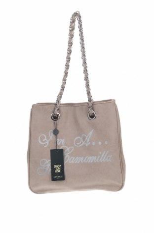 Дамска чанта Camomilla, Цвят Бежов, Еко кожа, Цена 41,87лв.