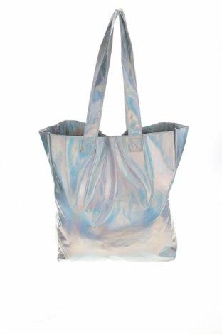 Дамска чанта Cropp, Цвят Сребрист, Полиуретан, Цена 34,50лв.