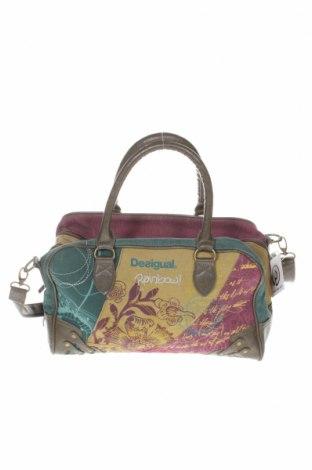 Дамска чанта Desigual, Цвят Многоцветен, Еко кожа, текстил, Цена 60,82лв.