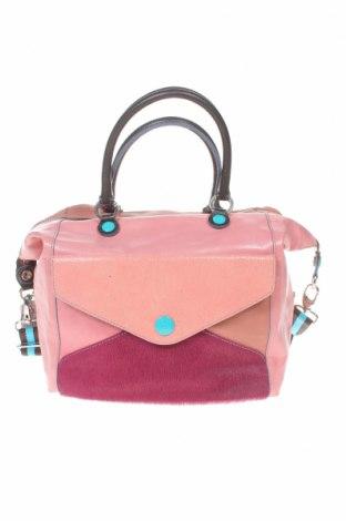 Дамска чанта Gabs, Цвят Розов, Естествена кожа, естествен косъм, Цена 127,42лв.