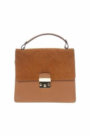 Γυναικεία τσάντα Maison Heritage, Χρώμα Καφέ, Γνήσιο δέρμα, Τιμή 87,60€