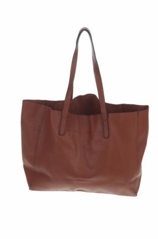Дамска чанта Mango, Цвят Кафяв, Еко кожа, Цена 28,50лв.