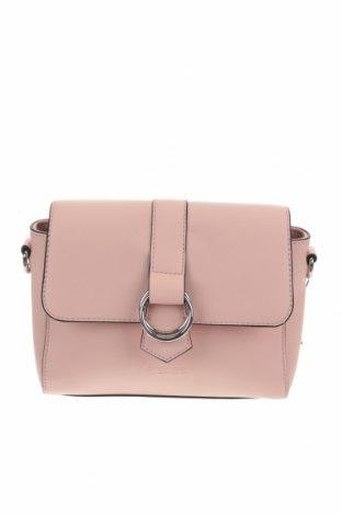 Дамска чанта Pieces, Цвят Розов, Еко кожа, Цена 28,42лв.