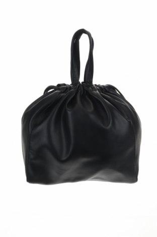 Дамска чанта Pieces, Цвят Черен, Еко кожа, Цена 34,22лв.