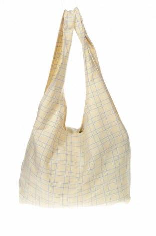 Дамска чанта Pieces, Цвят Жълт, Текстил, Цена 22,05лв.