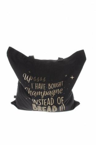 Дамска чанта Reserved, Цвят Черен, Текстил, Цена 25,50лв.