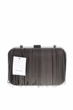 Дамска чанта Reserved, Цвят Черен, Текстил, Цена 34,30лв.