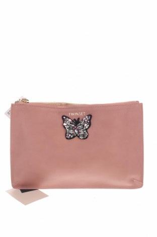 Дамска чанта TWINSET, Цвят Пепел от рози, Естествена кожа, Цена 109,62лв.