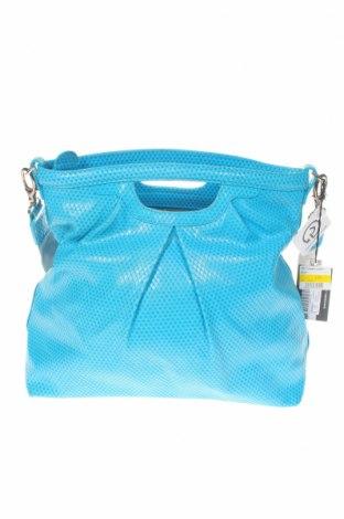 Дамска чанта Tosca Blu, Цвят Син, Естествена кожа, Цена 101,92лв.