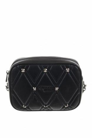 Дамска чанта Trussardi Jeans, Цвят Черен, Еко кожа, Цена 94,87лв.