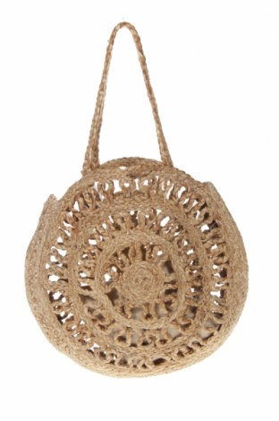 Дамска чанта Zara, Цвят Кафяв, Други тъкани, Цена 36,00лв.