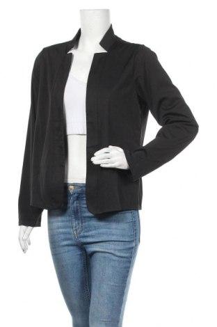 Дамска жилетка, Размер L, Цвят Черен, 65% полиестер, 35% памук, Цена 21,95лв.