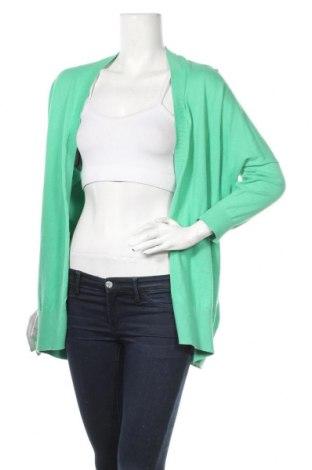 Дамска жилетка Delicate Love, Размер M, Цвят Зелен, 90% памук, 10% кашмир, Цена 12,08лв.