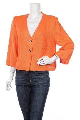 Дамска жилетка Ella, Размер L, Цвят Оранжев, 93% вискоза, 7% лен, Цена 6,30лв.