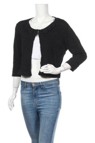 Γυναικεία ζακέτα G.W., Μέγεθος XL, Χρώμα Μαύρο, 65% βισκόζη, 35% πολυαμίδη, Τιμή 9,55€