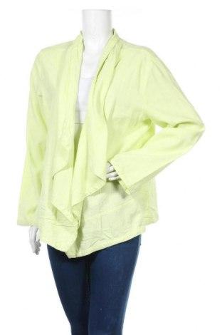 Γυναικεία ζακέτα Gina Laura, Μέγεθος L, Χρώμα Πράσινο, 52% λινό, 48% βισκόζη, Τιμή 1,59€