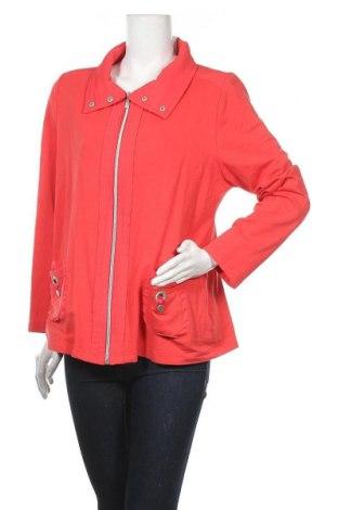 Дамска жилетка Gina Laura, Размер L, Цвят Оранжев, 95% памук, 5% еластан, Цена 9,01лв.