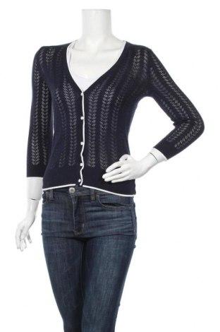Дамска жилетка H&M, Размер XS, Цвят Син, 50% памук, 50% модал, Цена 25,94лв.