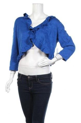 Γυναικεία ζακέτα Kim Rogers, Μέγεθος XL, Χρώμα Μπλέ, 60% βαμβάκι, 40%ακρυλικό, Τιμή 10,00€